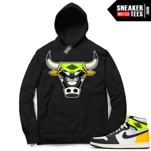 Jordan 1 Volt Gold Hoodie Sneaker Match Black Rare Air Bull