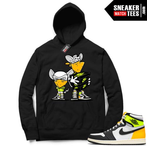 Jordan 1 Volt Gold Hoodie Sneaker Match Black Sneaker Heist