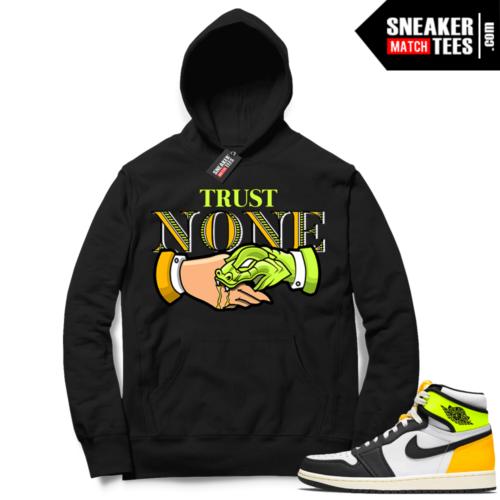Jordan 1 Volt Gold Hoodie Sneaker Match Black Trust None