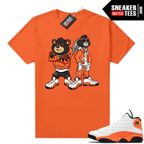 Jordan 13 Starfish Match Sneaker Tees Shirt Orange Big Steppas