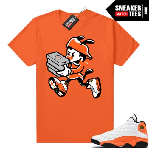 Jordan 13 Starfish Match Sneaker Tees Shirt Orange Double Up
