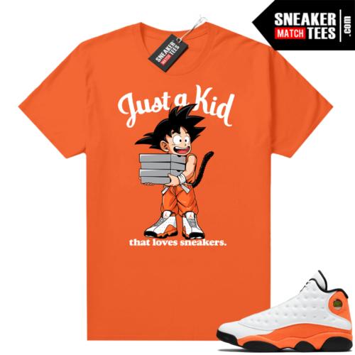 Jordan 13 Starfish Match Sneaker Tees Shirt Orange Just A Kid