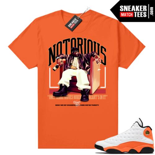 Jordan 13 Starfish Match Sneaker Tees Shirt Orange Sip Champagne