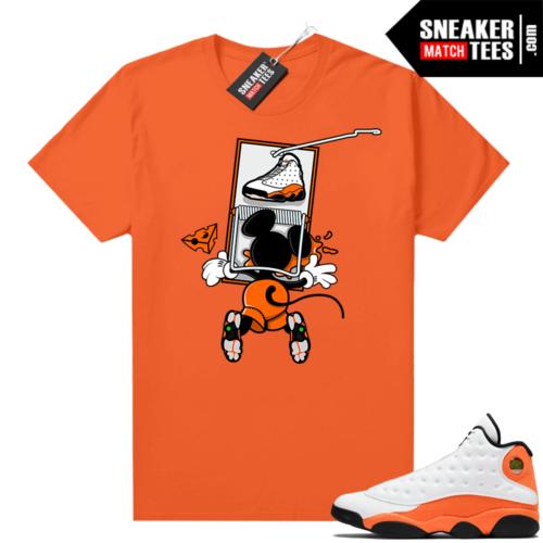 Jordan 13 Starfish Match Sneaker Tees Shirt Orange Sneaker Trap