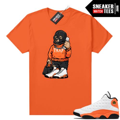 Jordan 13 Starfish Match Sneaker Tees Shirt Orange Trap Bear