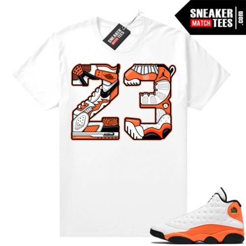 Jordan sneaker tees Starfish 13s