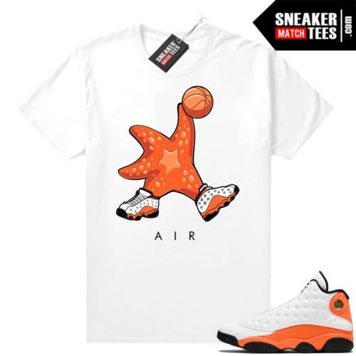 Sneaker shirts Jordan 13 Starfish
