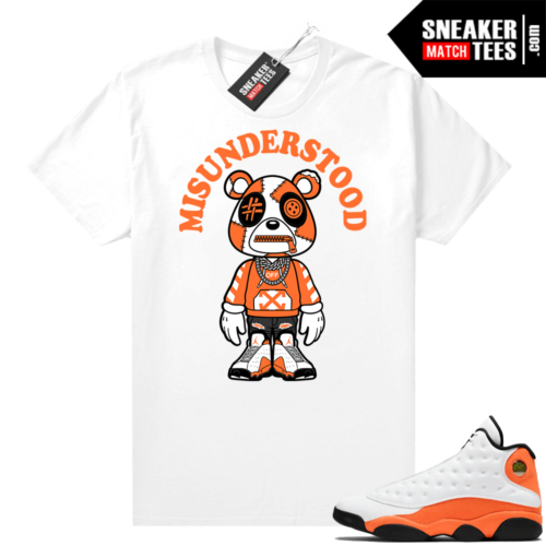 Jordan 13 Starfish Sneaker Tees Shirt Match White Bear Toon
