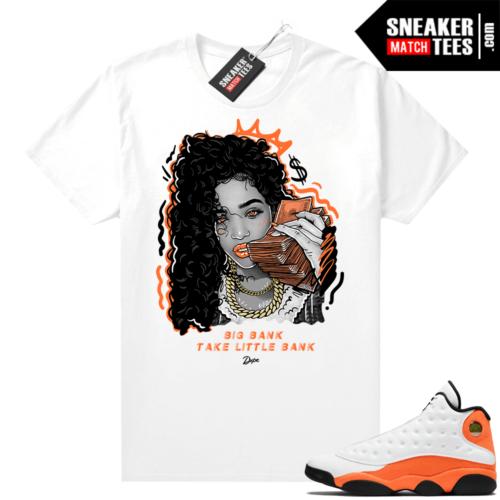 Jordan 13 Starfish Sneaker Tees Shirt Match White Big Bank