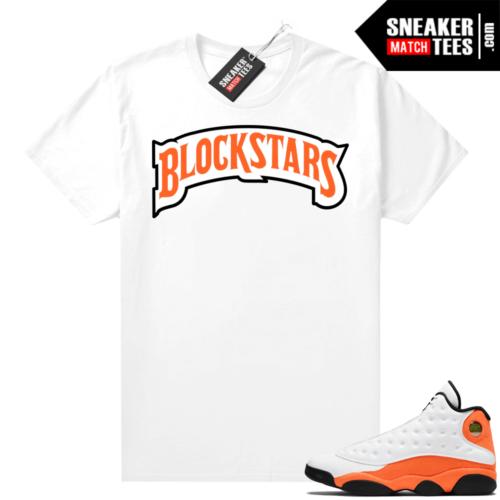Jordan 13 Starfish Sneaker Tees Shirt Match White Blockstars