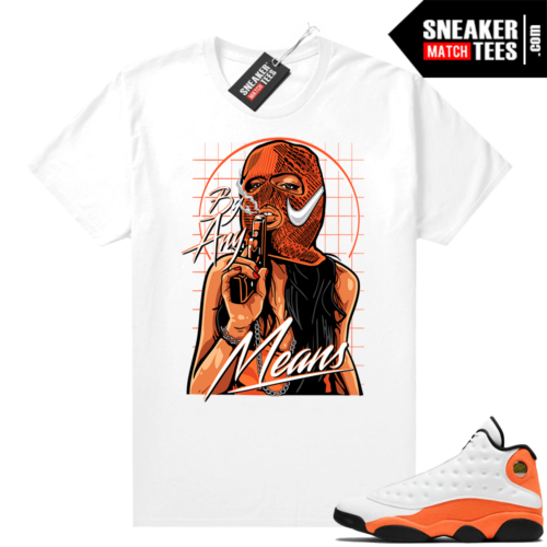 Jordan 13 Starfish Sneaker Tees Shirt Match White By Any Means