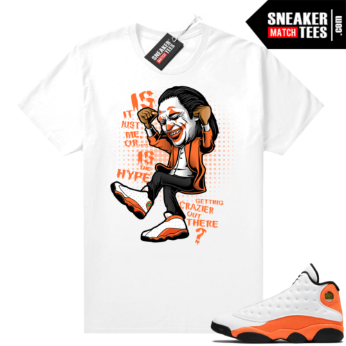 Jordan 13 Starfish Sneaker Tees Shirt Match White Crazy Hype