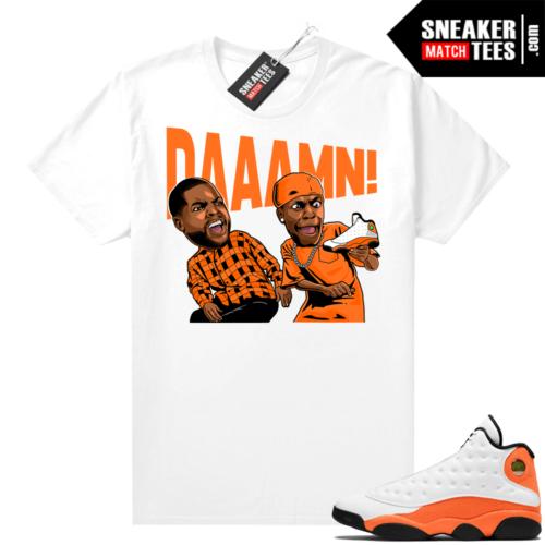 Jordan 13 Starfish Sneaker Tees Shirt Match White DAAAMN