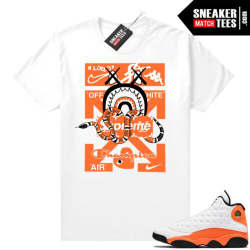 Jordan 13 Starfish Sneaker Tees Shirt Match White Designer Mashup