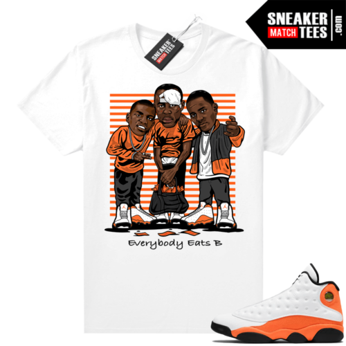 Jordan 13 Starfish Sneaker Tees Shirt Match White Everybody Eats B