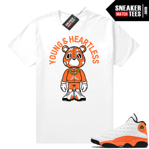 Jordan 13 Starfish Sneaker Tees Shirt Match White Heartless Bear Toon