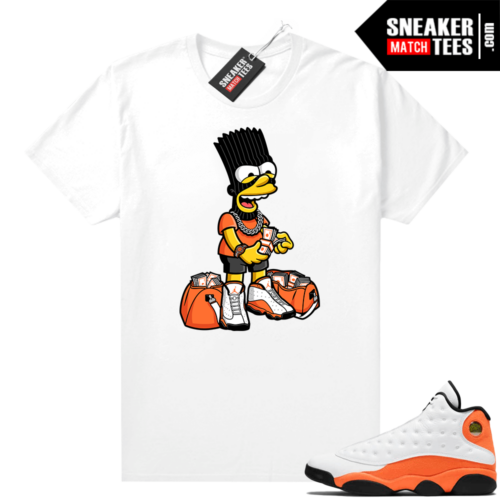 Jordan 13 Starfish Sneaker Tees Shirt Match White In My Bag