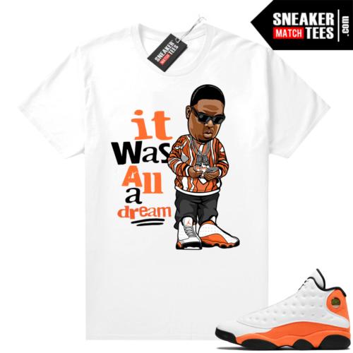 Jordan 13 Starfish Sneaker Tees Shirt Match White It Was All A Dream