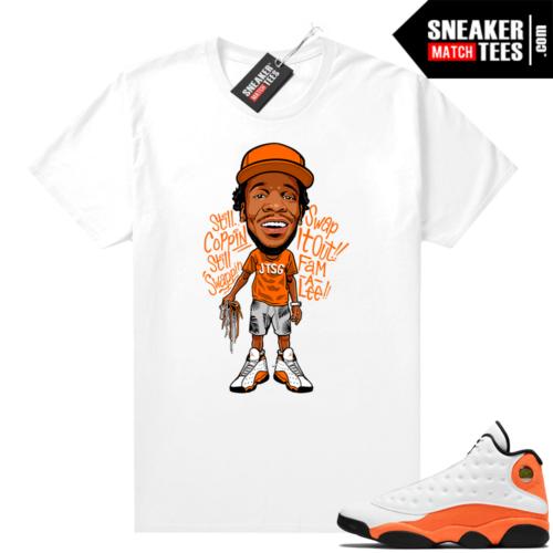 Jordan 13 Starfish Sneaker Tees Shirt Match White JTSG Toon