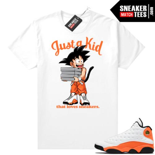 Jordan 13 Starfish Sneaker Tees Shirt Match White Just A Kid