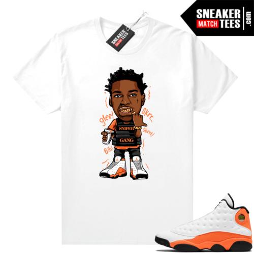 Jordan 13 Starfish Sneaker Tees Shirt Match White Kodak Glee