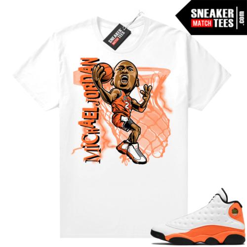 Jordan 13 Starfish Sneaker Tees Shirt Match White MJ Toon