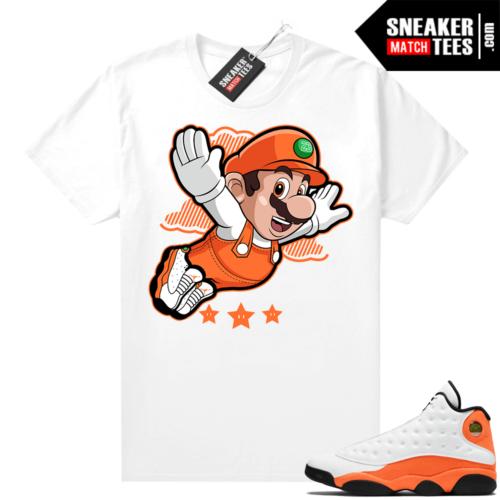 Jordan 13 Starfish Sneaker Tees Shirt Match White Mario Fly