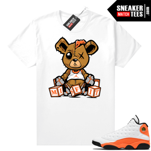Jordan 13 Starfish Sneaker Tees Shirt Match White Misfit Teddy