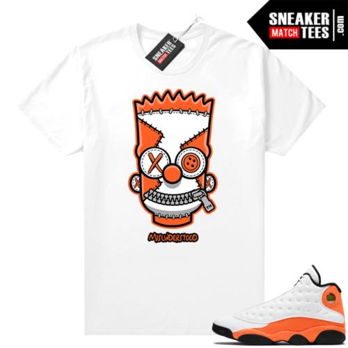 Jordan 13 Starfish Sneaker Tees Shirt Match White Misunderstood Bart