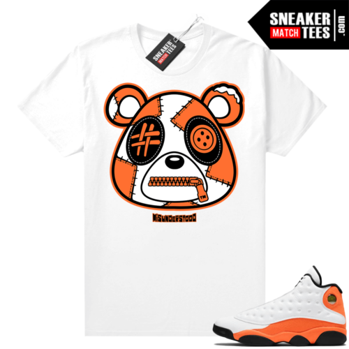 Jordan 13 Starfish Sneaker Tees Shirt Match White Misunderstood Bear