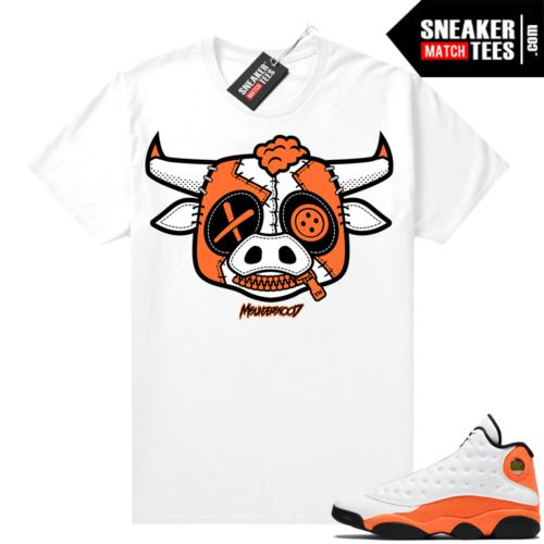 Jordan 13 Starfish Sneaker Tees Shirt Match White Misunderstood Bull