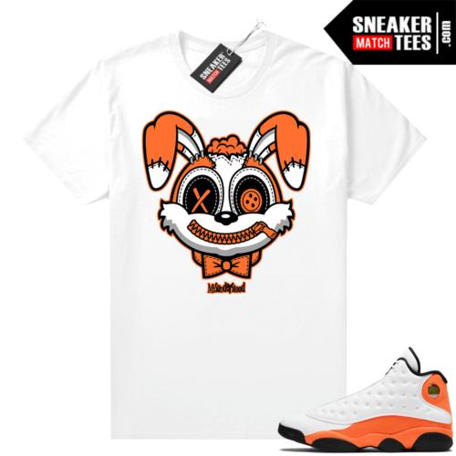 Jordan 13 Starfish Sneaker Tees Shirt Match White Misunderstood Bunny