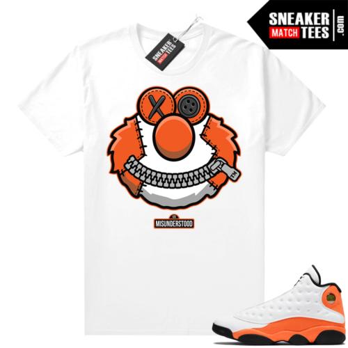 Jordan 13 Starfish Sneaker Tees Shirt Match White Misunderstood Elmo