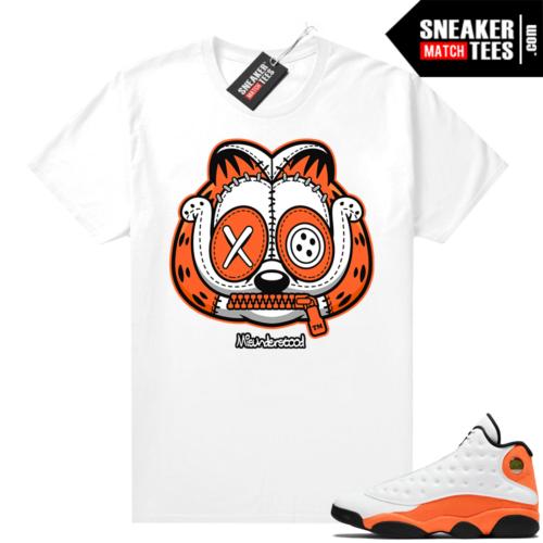 Jordan 13 Starfish Sneaker Tees Shirt Match White Misunderstood Garfield
