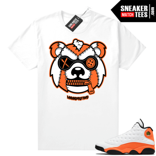 Jordan 13 Starfish Sneaker Tees Shirt Match White Misunderstood Grizzly