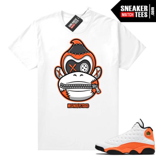Jordan 13 Starfish Sneaker Tees Shirt Match White Misunderstood Kong