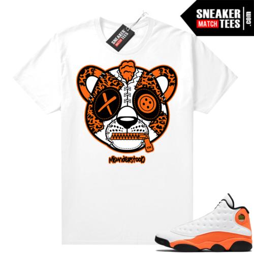 Jordan 13 Starfish Sneaker Tees Shirt Match White Misunderstood Leopard