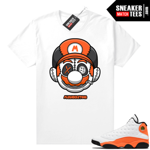 Jordan 13 Starfish Sneaker Tees Shirt Match White Misunderstood Mario