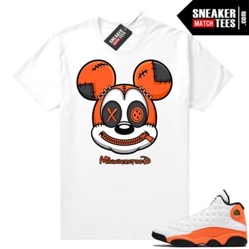 Jordan 13 Starfish Sneaker Tees Shirt Match White Misunderstood Mickey