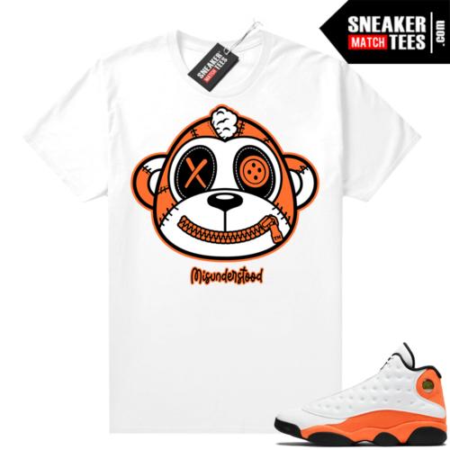 Jordan 13 Starfish Sneaker Tees Shirt Match White Misunderstood Monkey
