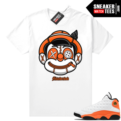 Jordan 13 Starfish Sneaker Tees Shirt Match White Misunderstood Pinocchio