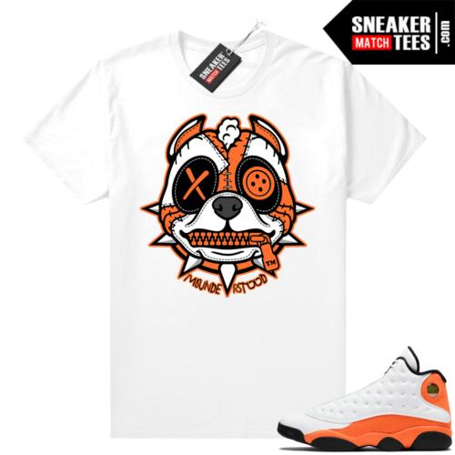 Jordan 13 Starfish Sneaker Tees Shirt Match White Misunderstood Pitbull Puppy