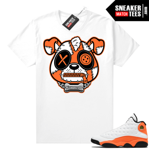Jordan 13 Starfish Sneaker Tees Shirt Match White Misunderstood Puppy