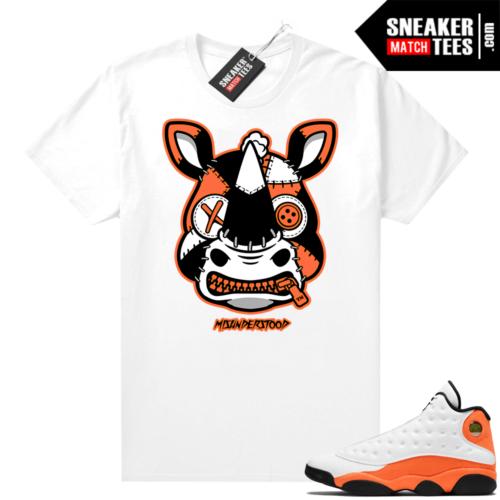 Jordan 13 Starfish Sneaker Tees Shirt Match White Misunderstood Rhino