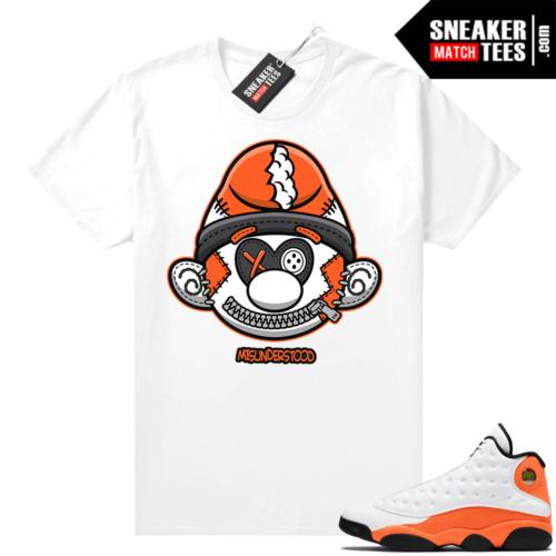 Jordan 13 Starfish Sneaker Tees Shirt Match White Misunderstood Smurf