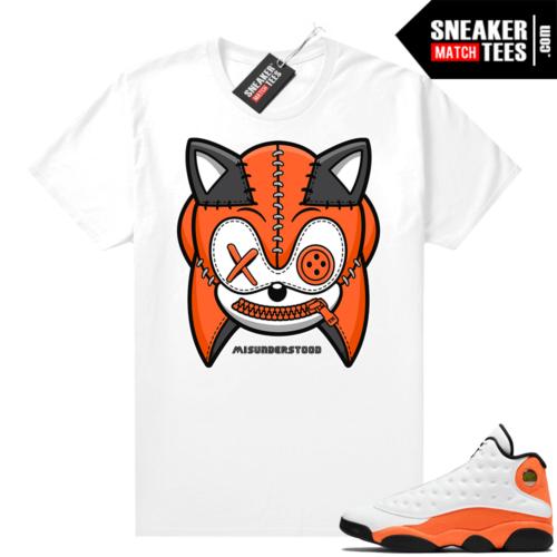 Jordan 13 Starfish Sneaker Tees Shirt Match White Misunderstood Sonic