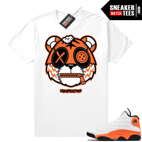 Jordan 13 Starfish Sneaker Tees Shirt Match White Misunderstood Tiger
