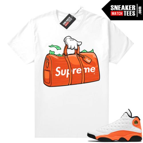 Jordan 13 Starfish Sneaker Tees Shirt Match White Money Duffle