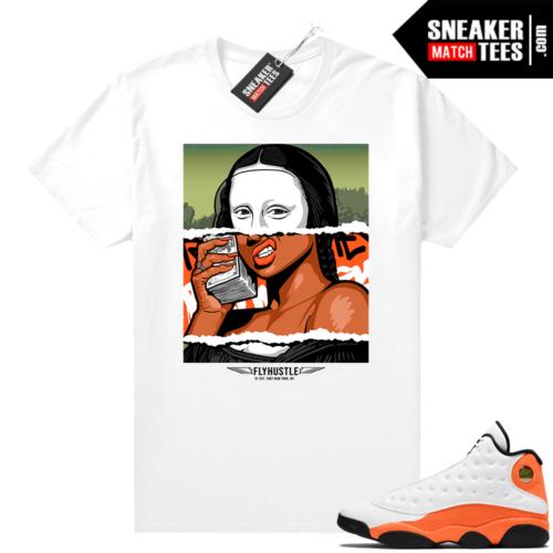 Jordan 13 Starfish Sneaker Tees Shirt Match White Money Lisa