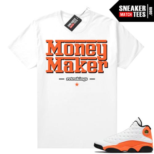 Jordan 13 Starfish Sneaker Tees Shirt Match White Money Maker